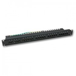 ECOLAN - Ecolan 25 Port Cat 3 Isdn Patch Panel Siyah.