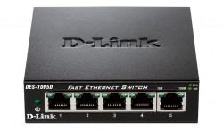 D-LINK - D-Link Des-1005D 5 Port 10/100Mbps Metal Kasa Switch.