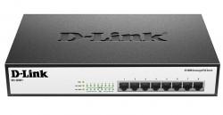 D-LINK - D-Link Des-1008P+/A1A Yönetilemez Poe+ 8 Port Masaüstü Switch.
