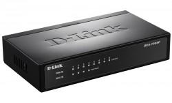 D-LINK - D-Link Des-1008P/C1A 8-Port 10/100Mbps 4 Poe Portlu Yönetilemez Poe Switch.