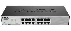 D-LINK - D-Link Des-1016C 16 Port 10/100Mbps Yönetilemez Metal Kasa Rackmount Switch.
