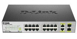 D-LINK - D-Link Des-1018Mp 16 Ports 10/100 Mbps Poe + 2 10/100/1000Base-T/Sfp Combo Ports Unmanaged Switch.