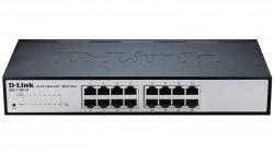 D-LINK - D-Link Des-1100-16 16 Port 10/100Mbps Web Yönetilebilir Metal Kasa Rackmount Switch.