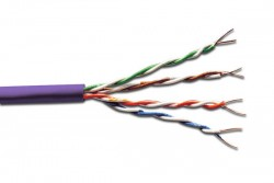 DIGITUS - Digitus Cat 6 U-Utp Installation Cable, 500mt., Lsoh, Awg23, Color Purple Data Kablosu