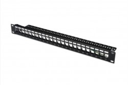 DIGITUS - Digitus Modular Patch Panel, Shielded, 24-port, Label Field, 1u, Rack Mount.