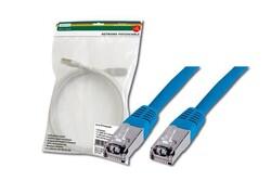 DIGITUS - Digitus Patch Kablo, F-UTP, CAT. 5E, 1 metre, AWG 26/7, Mavi Renk, 3P sertifikalı