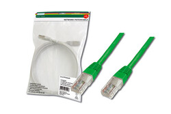 DIGITUS - Digitus Patch Kablo, UTP, CAT. 5E, 3 metre, AWG 26/7, Yeşil Renk, 3P sertifikalı