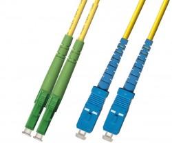 OEM - Oem Fo. Duplex P.Cord Lc(Apc)/Sc Sm 9/125µ 10 Mt.