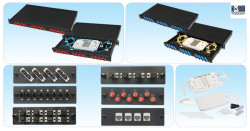 HCS - Hcs PFO-10001-1U Lc Fiber Optik Modüler Patch Panel Boş 19'' 1U